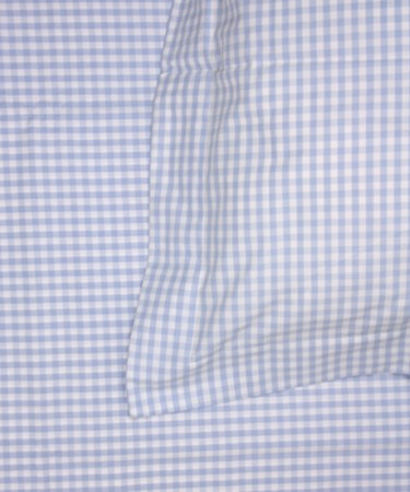 Blue Gingham Single Bed Pillow & Duvet Cover