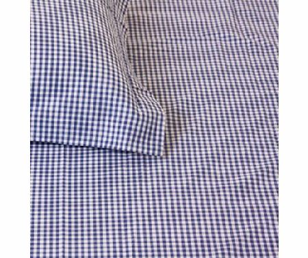 Navy Gingham Single Bed Pillow & Duvet Cover