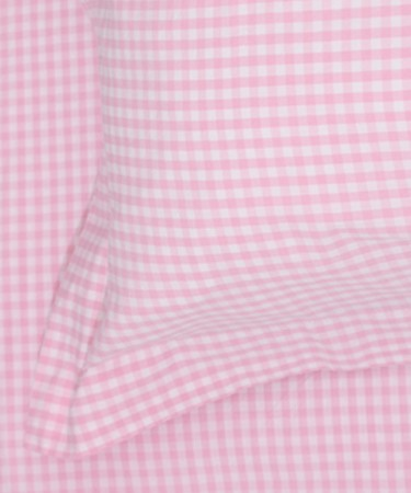 Pink Gingham Single Bed Pillow & Duvet Cover