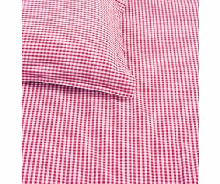 Red Gingham Single Bed Pillow & Duvet Cover