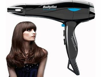 Brand New BaByliss 5541CU 2200W Pro Speed Professional Ceramic Ionic Hair Dryer + Nozzle