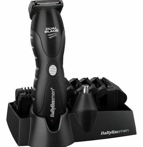 Brand New BABYLISS LITHIUM 10 IN 1 GROOMING KIT MENS DUAL BLADE HAIR TRIMMER CLIPPER