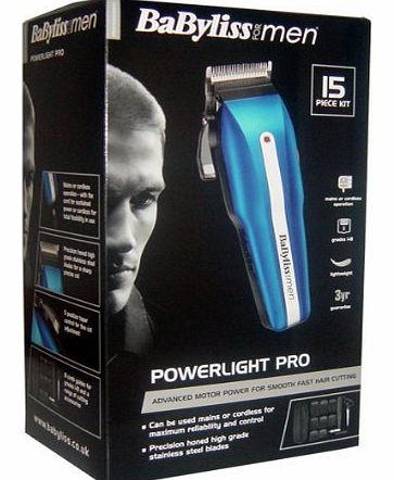 for Men 15 Piece Powerlight Pro Hair Clipper Set 7498U