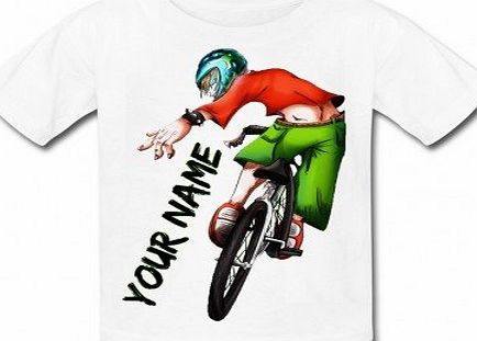 Babysmiles Personalised BMX Kids T-Shirt Age 9-10 Chest size 81cm