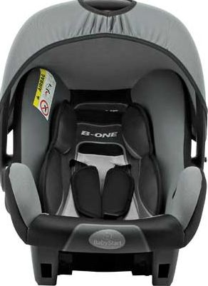 BeOne Group 0+ Car Seat - Black and Grey