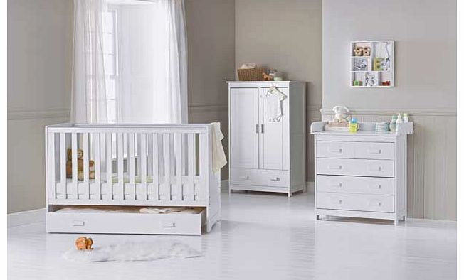 Delfina 3 Piece Nursery Set - White