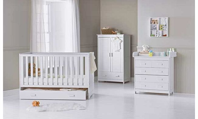 Delfina 5 Piece Nursery Set - White