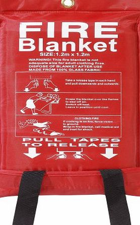 Babz Fire Blanket Large Quick Release Fighting Tabs In Case 1 M X 1 M