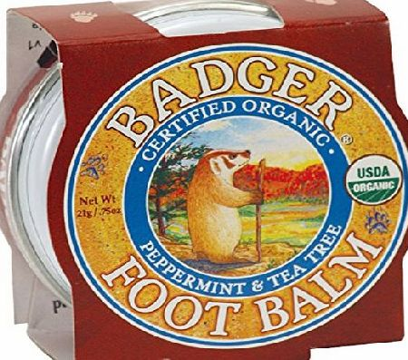 Badger Balm Badger Foot Balm Certified Organic Moisturises amp; Repairs Dry Cracked Feet 21g