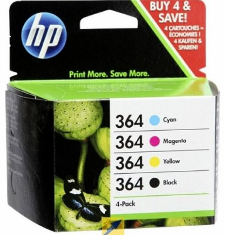 Badger Inks Ltd HP 364 4-pack Black/Cyan/Magenta/Yellow Original Ink Cartridges Combo pack