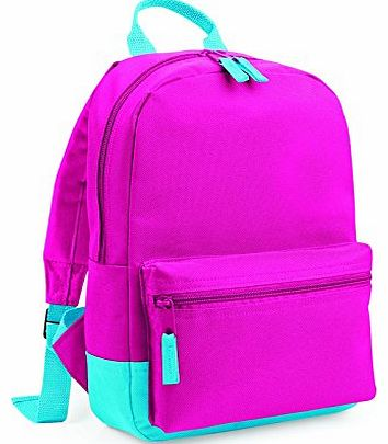 BG128 Mini Student Backpack Fuchsia/Surf Blue