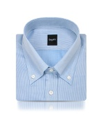 Blue Fine Lines Italian Button Down Dress Shirt