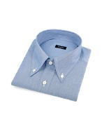 Fine Blue Lines Button Down Cotton Italian Dress Shirt