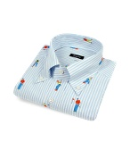 Golf Players Button Down Italian Cotton Dress Shirt