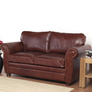and Lloyd Winchester chestnut leather sofa