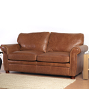 and Lloyd Winchester tan leather sofa