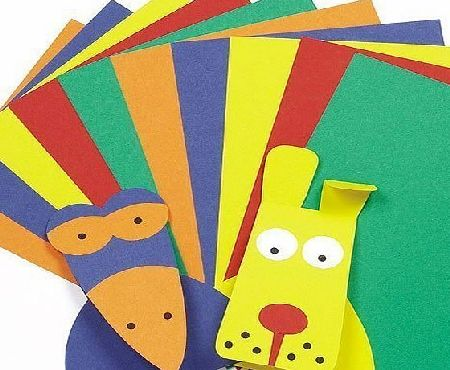 Baker Ross A4 Card Value Pack Kids Art amp; Craft Activities Collage - 5 Assorted Colours(220gsm) (Pack of 50)