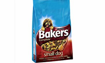 Small Dog Adult Complete Dog Food with Beef 3kg