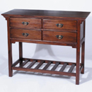 Mahogany 4 drawer console table furniture