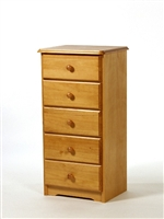 5 Drawer Narrow Chest of Drawers