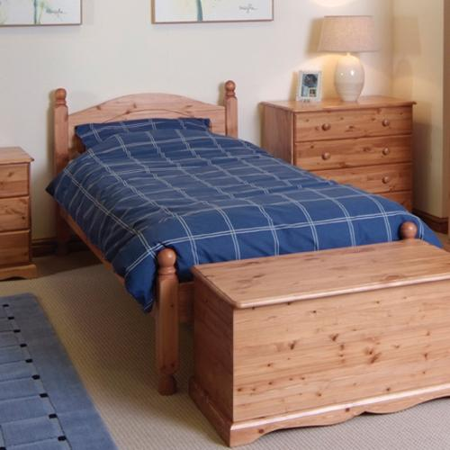 Balmoral Single Pine Bed with Low Foot End 3`