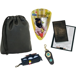 Golf pouch, score card, ball bag, clip + FREE Future Pen