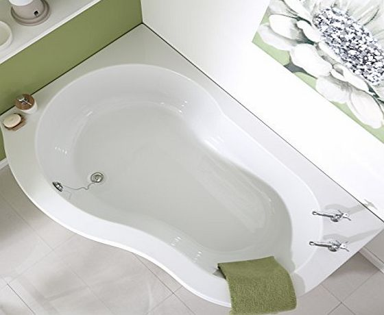 Balterley 1500 x 1000mm Nuvo Acrylic Left Hand Corner Bathroom Bath Tub with Panel - Made In UK