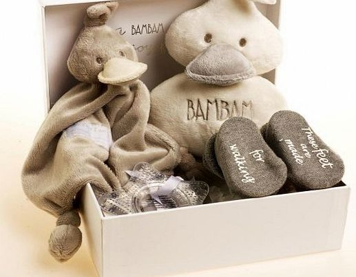 BamBam Baby Boy Gift Box Set (4 Pieces, Grey)