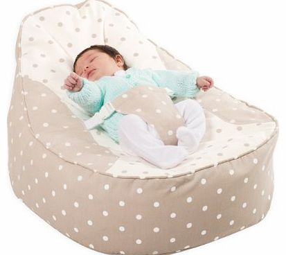 Bambeano® Baby Bean Bag Support Chair - Natural - With FREE My 1st Bean Bag Cover