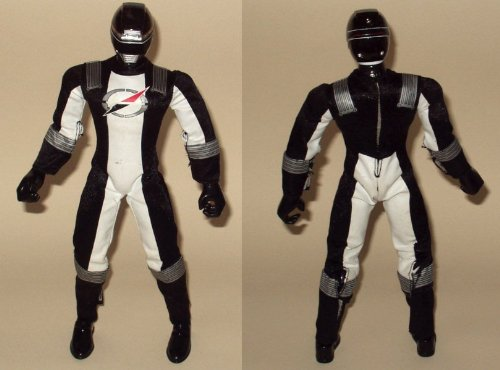 12`` 30CM POWER RANGERS OPERATION OVERDRIVE TALKING BLACK ACTION FIGURE