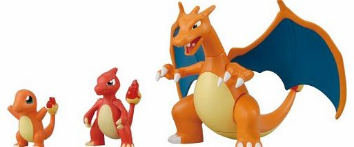 Pokemon Plastic Model Collection - Lizardon Evolution Set