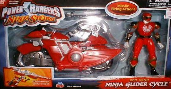 Bandai Power Rangers Ninja Storm Ninja Glider Cycle Red Wind by Bandai