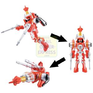 Power Rangers Operation Overdrive Turbo Drill 12 5cm Red