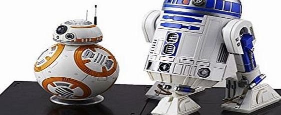 Bandai Star Wars: The Force Awakens BB-8 amp; R2-D2 1/12 scale plastic model kit