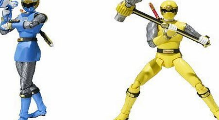 Bandai Tamashii Nations S.H. Figuarts Wind Ranger Power Rangers Ninja Storm Action Figure, Blue/Yellow by Bandai