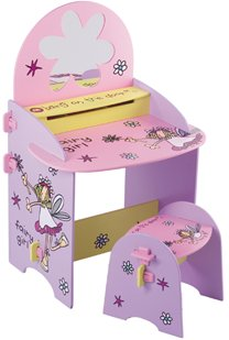 BANG ON THE DOOR fairy girl vanity table and stool