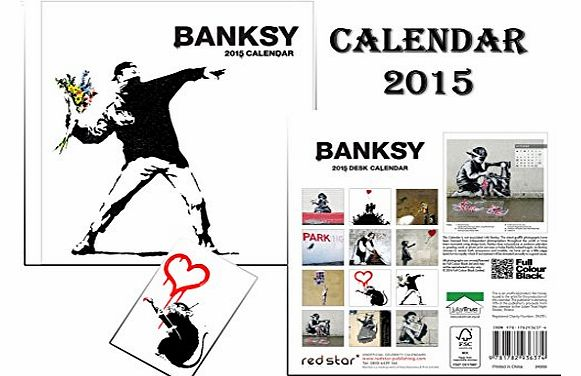desk calendars banksy easel desk calendar 2015 banksy fridge magnet