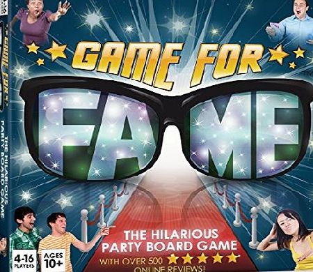 Banter Board Games Ltd Game For Fame: Hilarious party Board Game for up to 16 players! Family, Friends, Adults, Teens!