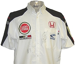 2003 Japanese GP Team Shirt Signed by Button and Sato