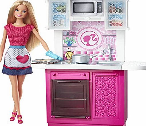 Barbie - cfb62 - Dolls House Kitchen