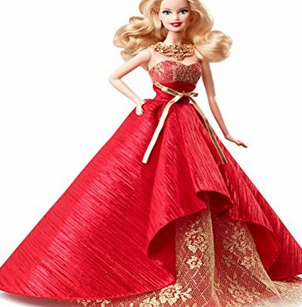 Barbie Collectors Holiday Doll with Amazing Evening Gown - Christmas Collector Figure - 2014