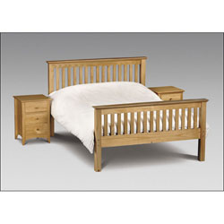 4FT 6` Double Bedstead - Solid Pine