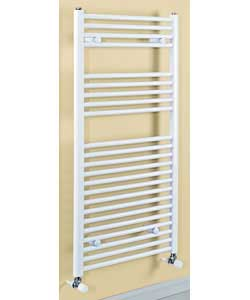 Contemporary Large Heated Towel Rail - White