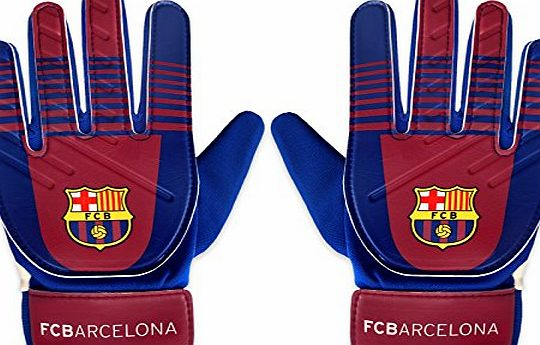Barcelona F.C. FC Barcelona Official Football Gift Youths Goalkeeper Goalie Gloves