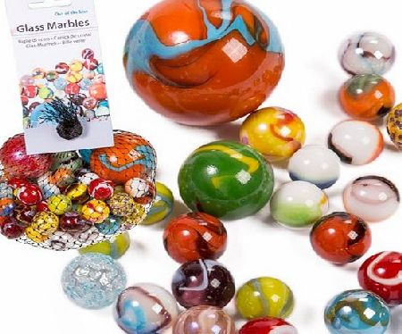 BARGAINS-GALORE MARBLES TRADITIONAL COLOURED GLASS TOY CLASSIC RETRO GIFT 500G PARTY LOOT NEW