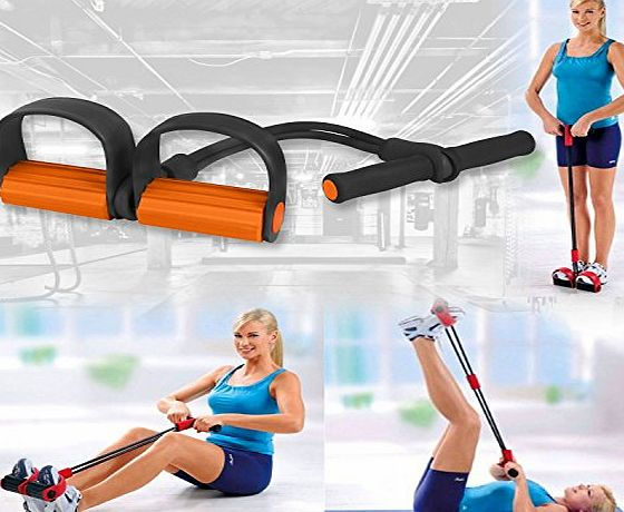 BARGAINS-GALORE RESISTANCE BANDS EXPANDER TRAINER GYM STRENGTH WORKOUT FITNESS PILATES EXERCISE
