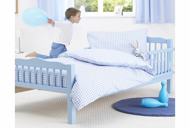 Blue Gingham Junior Bed Duvet and Pillowcase Set by Baroo