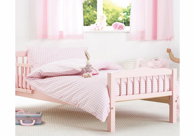 Pink Gingham Junior Bed Duvet and Pillowcase Set by Baroo
