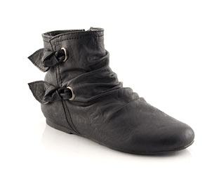 Ankle Boot With Knot Trim - Infant