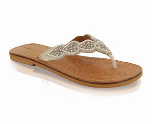 Beaded Toe Post Sandal
